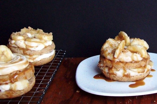 Dairy-Free 3-Course Contest Recipe - Banana Cream Pie Donuts