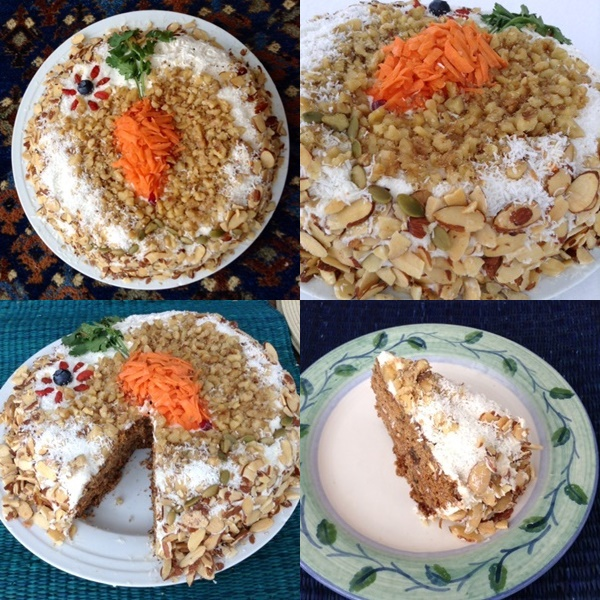 Gluten-Free Carrot Cake with Dairy-Free Cream Cheese Frosting