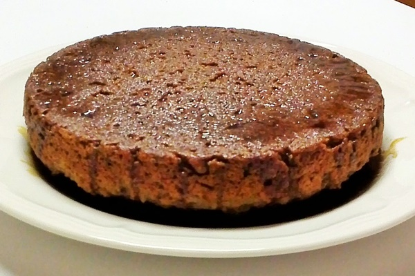 Wholesome Applesauce Cake with Coconut Sugar Sauce