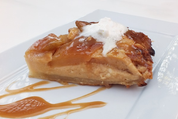 Dairy-Free Caramel Apple Cheesecake Tart Tatin
