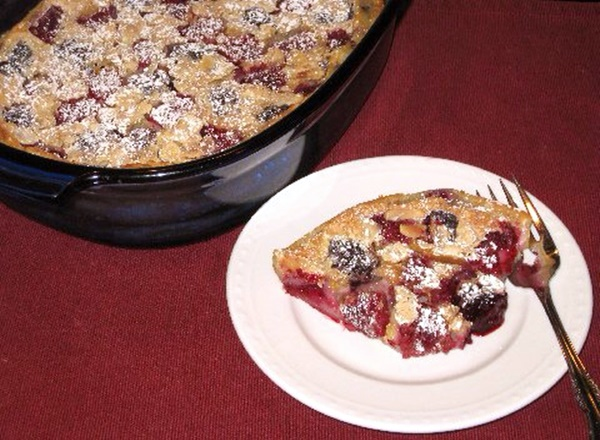 Double Berry Delight Dairy-Free Almond Clafouti Recipe