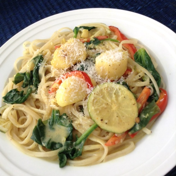Coconut Noodles with Scallops