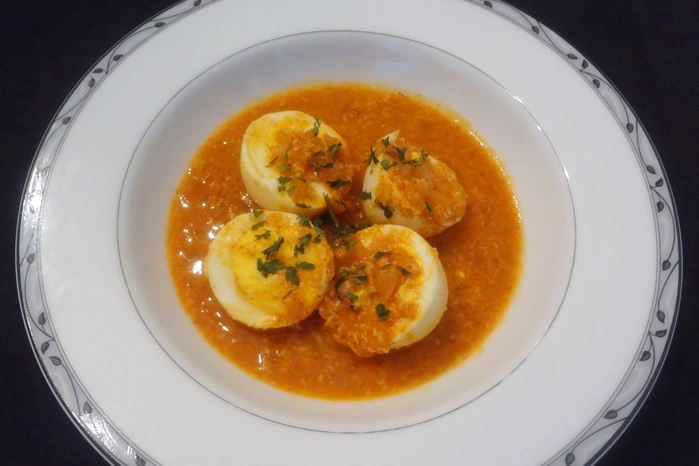 Ethnic Eggs in Chili-Ginger Sauce