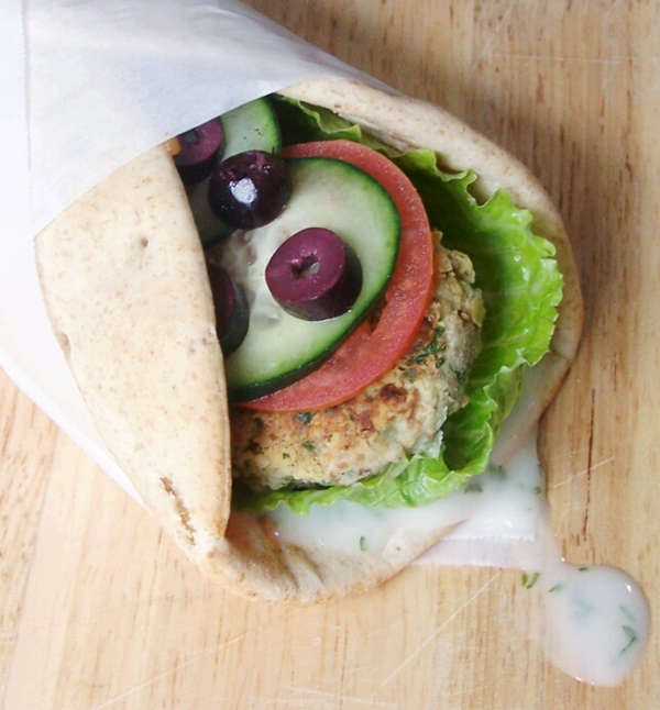 Vegan Falafel Wraps with Dairy-Free Yogurt Sauce