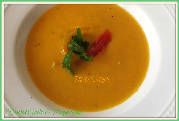 Bell Pepper and Roasted Garlic Soup Recipe