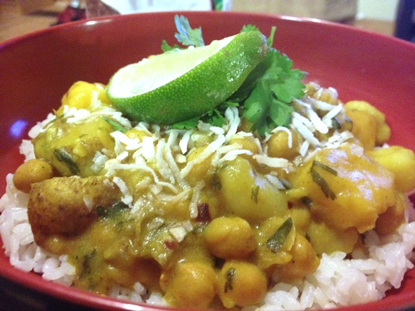 Mango Coconut and Chickpea Curry