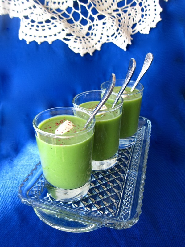 Fresh Pea Soup Shooters