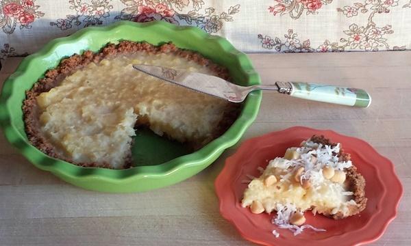 Tiki Tiki Roasted Pineapple-Coconut Pie