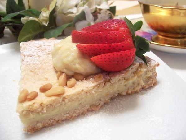 Torta Della Nonna - Grandma's Dairy-Free Custard Pie