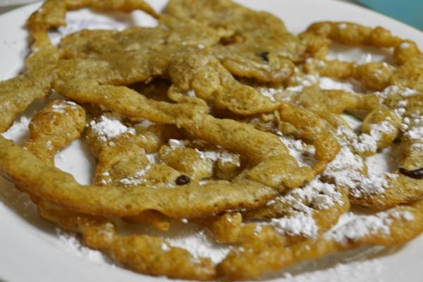 Vegan Rosemary Funnel Cakes