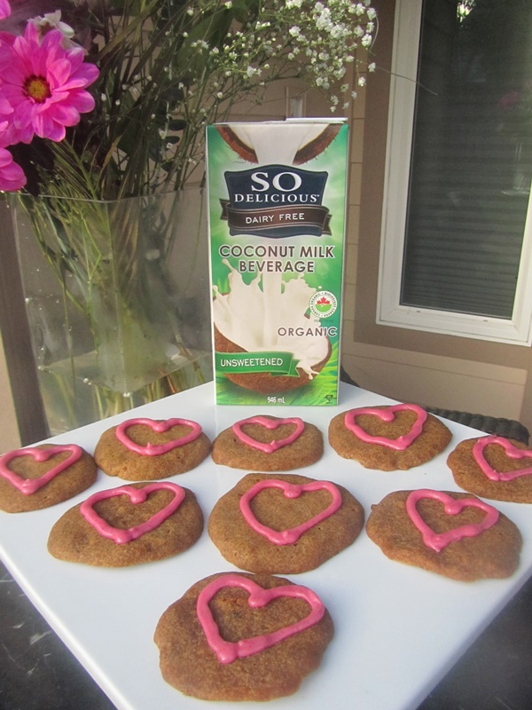 Vegan Vanilla Heart Cookies