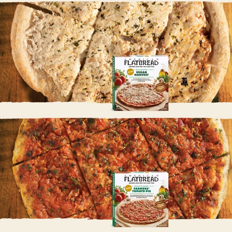 American Flatbread Vegan Frozen Pizzas Provide Cheesy & Cheese-less Options - Review, Ingredients, Ratings and More