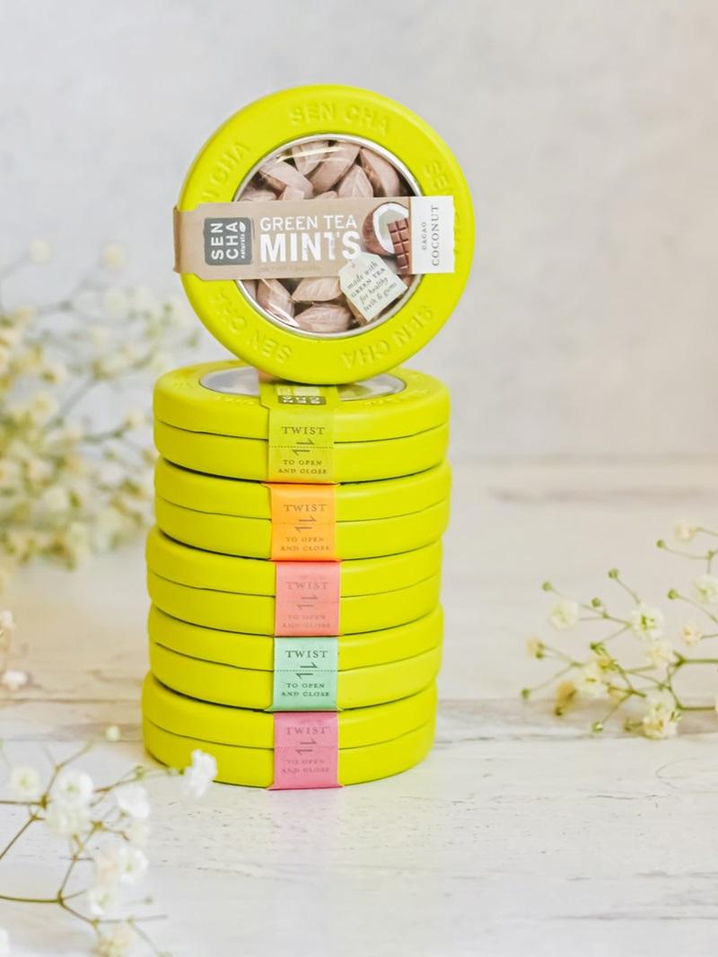 Sencha Naturals Green Tea Mints and Green Tea + C Drink Mixes - Reviews and Info - Vegan and Top Allergen Free
