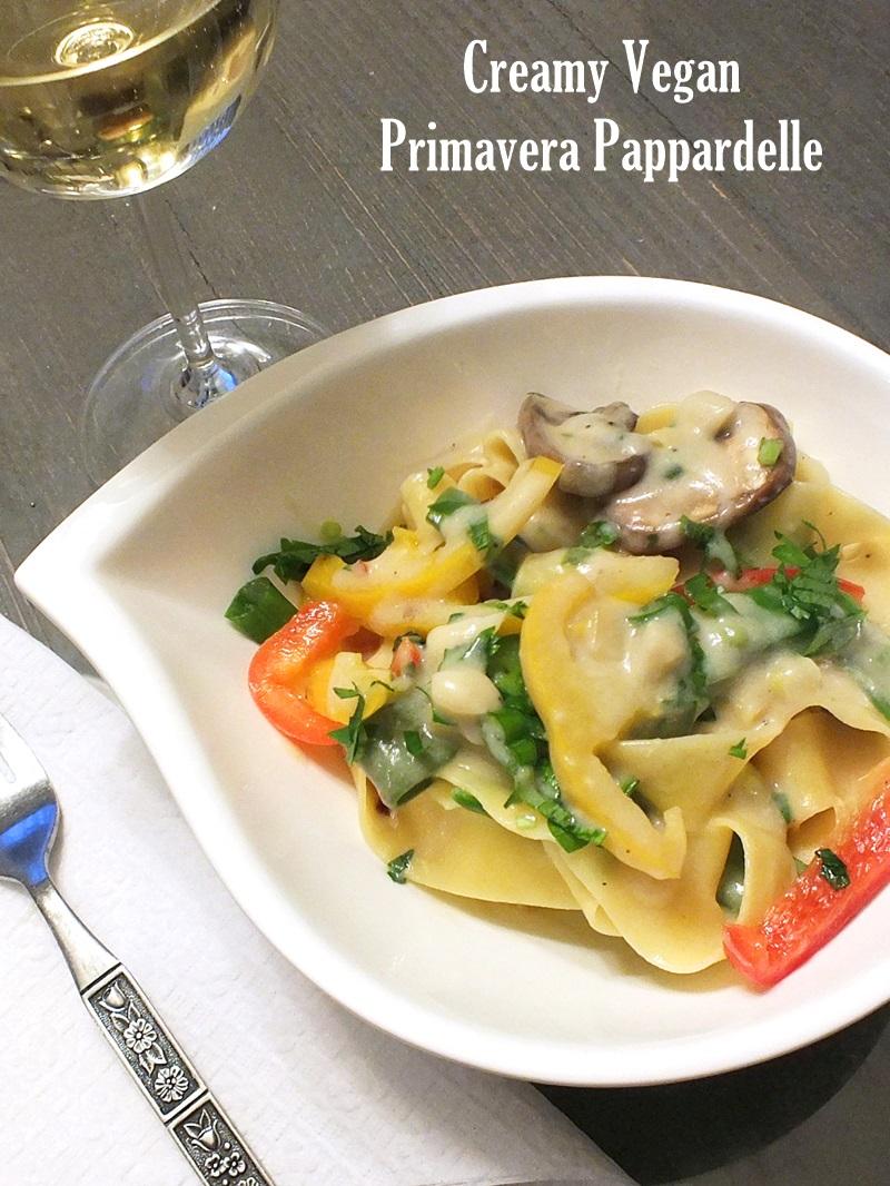 Creamy Vegan Primavera Pappardelle Recipe
