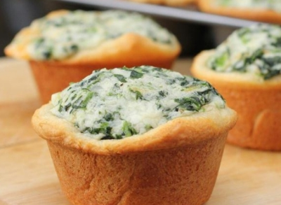 Dairy-Free Creamed Spinach Parmesan Cups