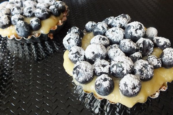 Nutty Citrus Blueberry Tarts