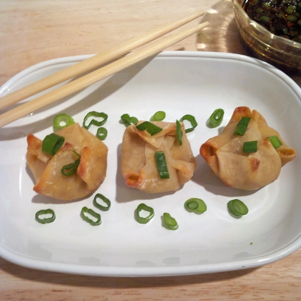 Crab Dumplings with Spicy Soy Lime Dipping Sauce