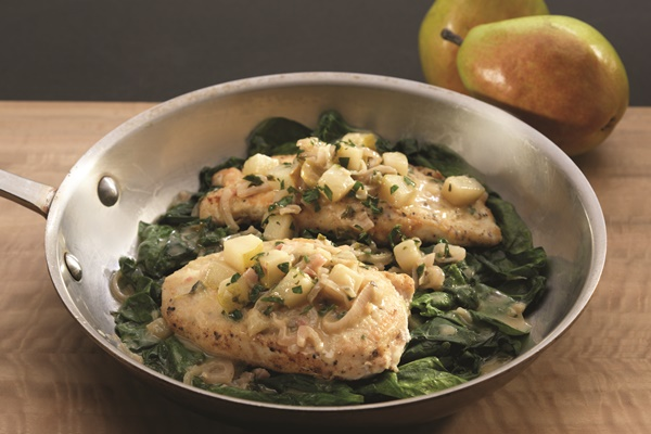 FF-Crispy-Chicken-Cutlets-with-Pears-Shallots-and-Wilted-Spinach ...
