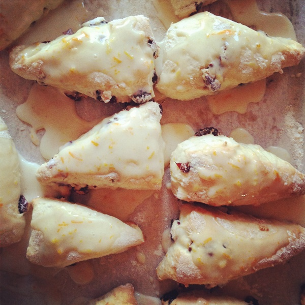 Cranberry Orange Coconut Milk Scones