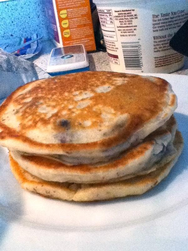 Vegan Banana Blueberry Pancakes