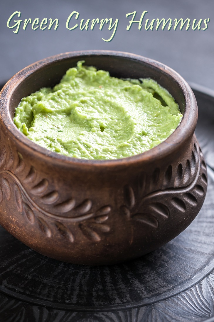 Green Curry Hummus Recipe - healthy, flavorful, naturally vegan, dairy-free, gluten-free and soy-free