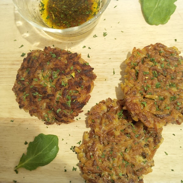 Orzo Mushroom Fritters with Dipping Sauce