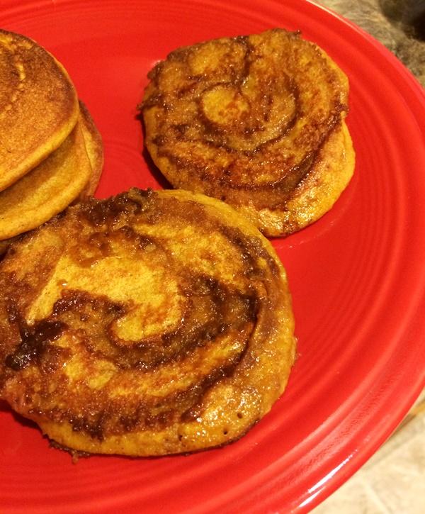 Pumpkin Cinnamon Swirl Pancakes