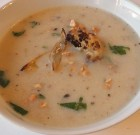 Roasted Garlic, Onion and Cauliflower Soup