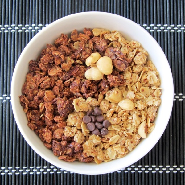 Chocolate New-Tella Granola and Vanilla Hazelnut Granola: The Perfect Yin-Yang Recipe Balance