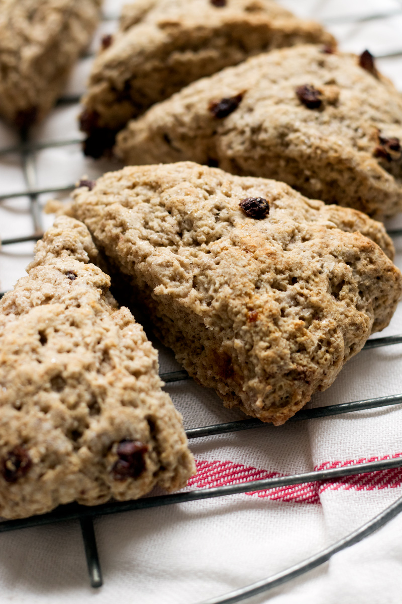 Vegan Cinnamon Scones Recipe - low fat, nutritious, dairy-free, nut-free and egg-free