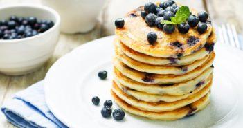 Vegan Banana Blueberry Pancakes Recipe