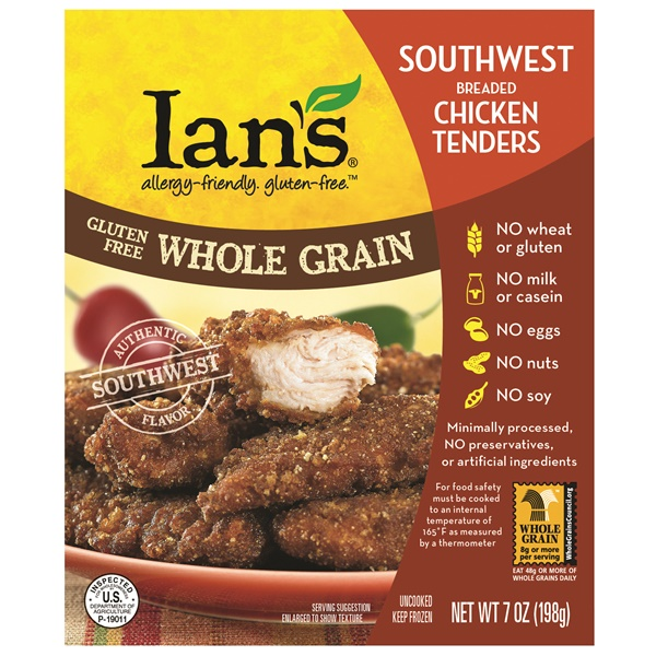 2014 Best New Dairy-Free Products - Ians Gluten Free Whole Grain Southwest Chicken Tenders