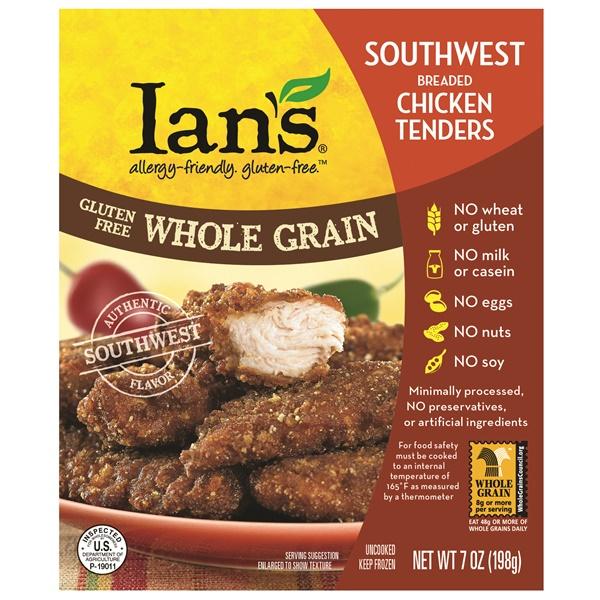 2014 Best New Dairy-Free Products - Ians Gluten Free Whole Grain Southwest Chicken Tenders
