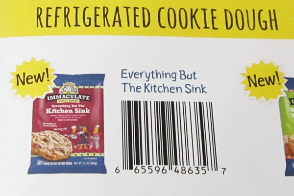 2014 Best New Dairy-Free Products - Immaculate Baking Everything But the Kitchen Sink Cookie Dough