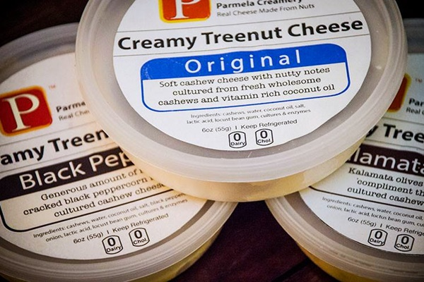 2014 Best New Dairy-Free Products - Parmela Creamy Treenut Cheeses