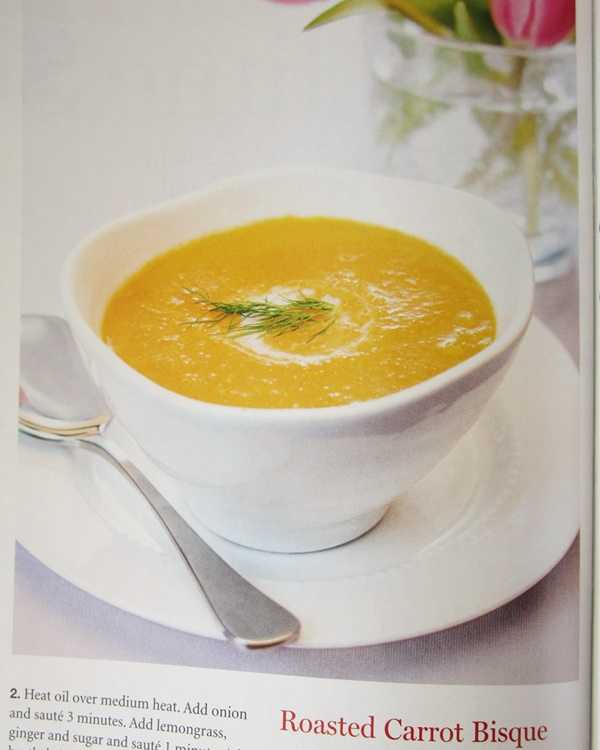 Roasted Carrot Bisque (from Alisa Flemings new Cookbook)