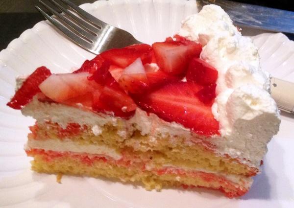 Dairy-Free Strawberry Cream Cheese Cake