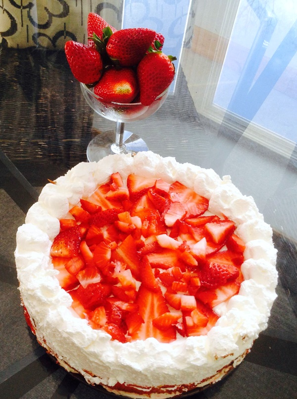 Dairy-Free Strawberry Cream Cheese Cake