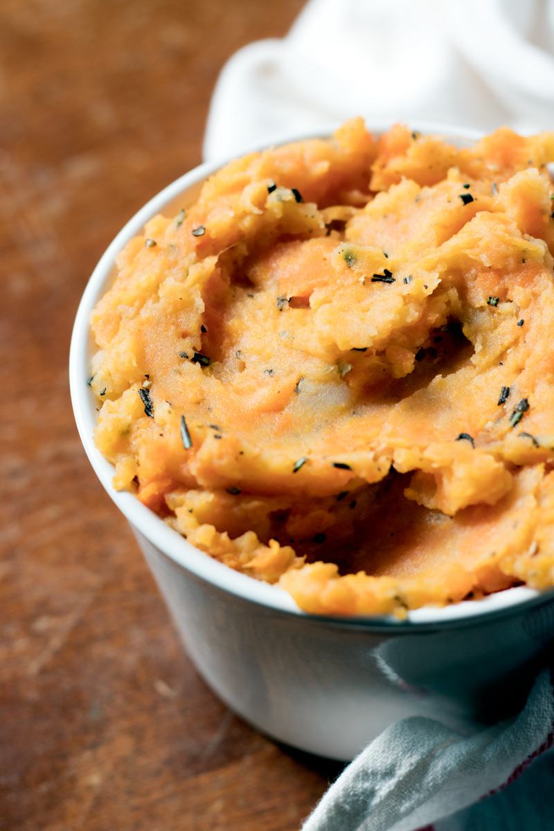 Rosemary Mashed Root Vegetables Recipe - vegan, dairy-free and gluten-free