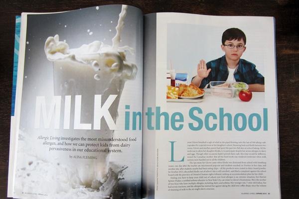 Milk Allergy at School Feature