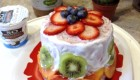 Nutritious Watermelon Cake with Superfood Dairy-Free Yogurt Frosting