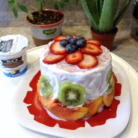 Nutritious Watermelon Cake - Watermelon cut into a cake layer and