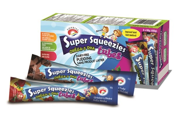 Sunrise Super Squeezies Dairy-Free Pudding Tubes
