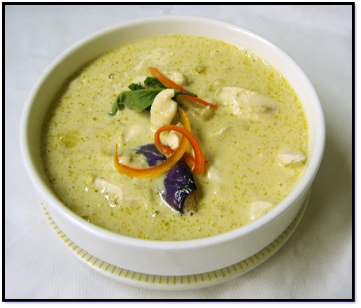 Thai Green Curry with Chicken, Shrimp, or Tofu
