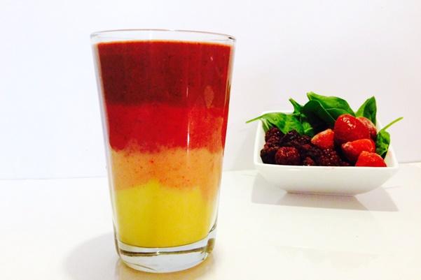 Tutti Frutti Vegan Rainbow Smoothie Recipe