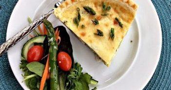 Asparagus and Leek Dairy-Free Quiche Recipe