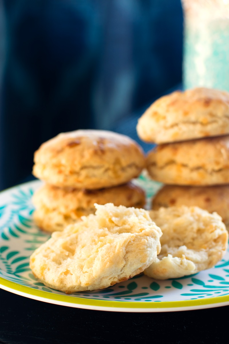 Dairy-Free Cheese Biscuits Recipe - Vegan, nut-free, optionally soy-free, and EASY. Delicious with buttery spread or as slider buns!