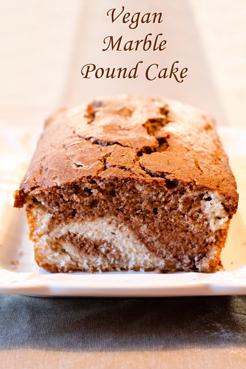 Marble Vegan Pound Cake Recipe - A prize winner!