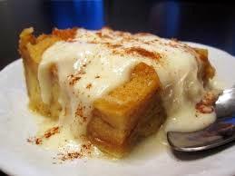 Bread Pudding with Hazelnut Liquor Sauce