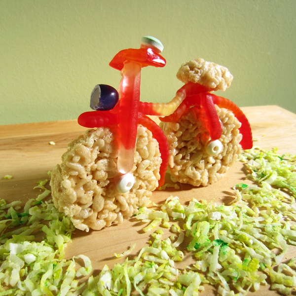 Dairy-Free Caramel Crispy Rice Bike with Homemade Sweetened Condensed